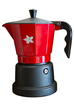 Espresso Stove Top Maker (red-6 cups)