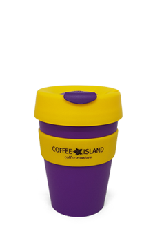 KeepCup Plastic 12oz (purple-yellow)